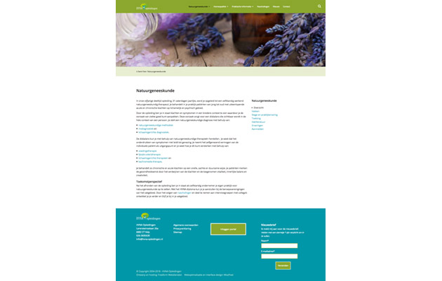 Web design for HVNA Education
