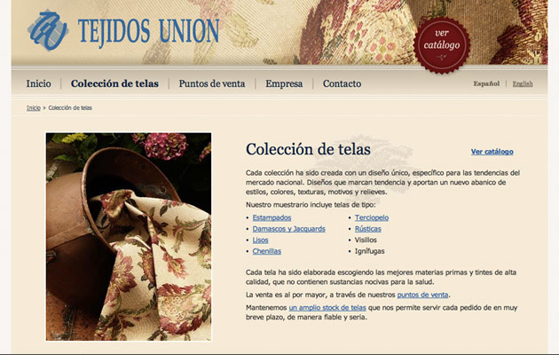 Online catalogue introduction page