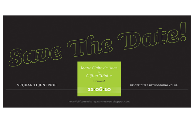 Invitación 'Save the date'