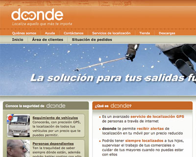 Web design for Doonde