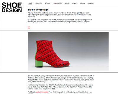 Web development for Shoedesign